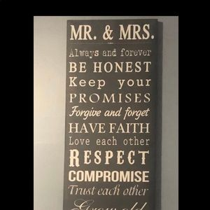 Mrs&mrs marriage wall decor